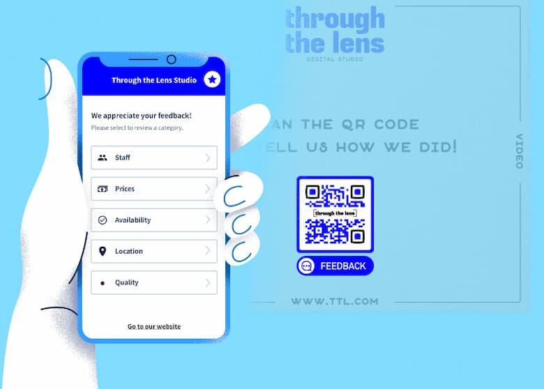 Get customer feedback by scan QR Code