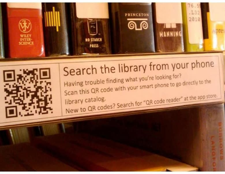 Using QR Codes in library management
